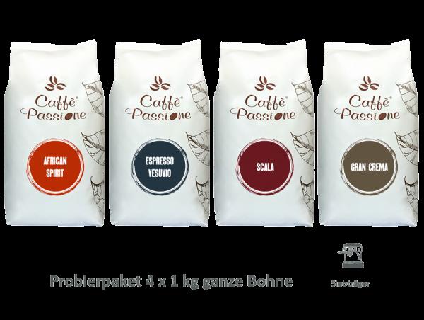 Caffè Passione Probierpaket Siebträger 4x1 kg 489x368